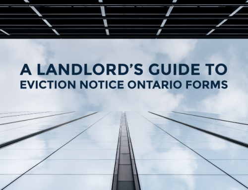A LANDLORD'S GUIDE TO EVICTION NOTICE ONTARIO FORMS