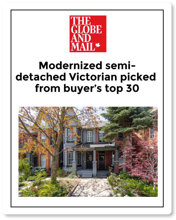 Globe and Mail article for 252 Lisgar Sale