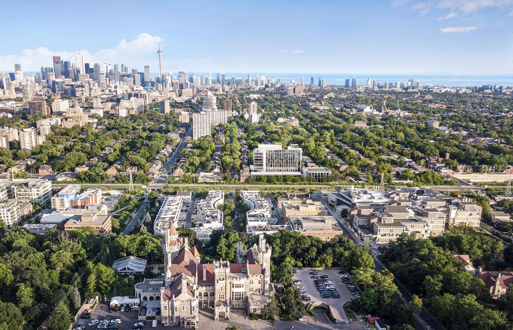 ANX Condos aerial view of Toronto