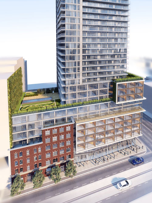 Four eleven king condominiums green wall rendering