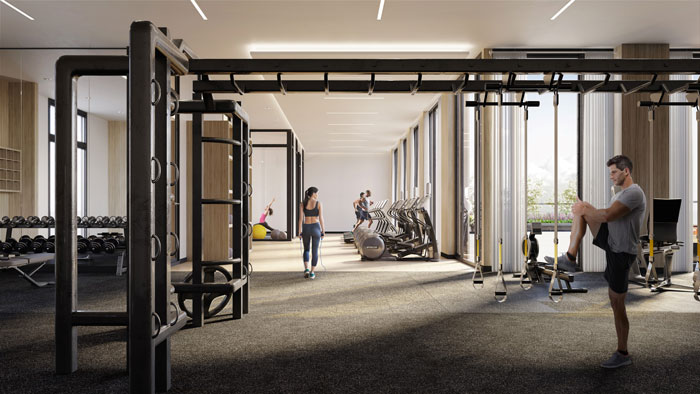The Forest Hill Condos gym