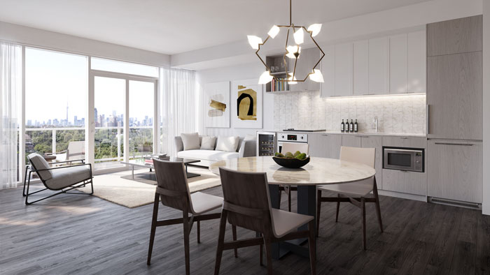 The Forest Hill Condos suite design