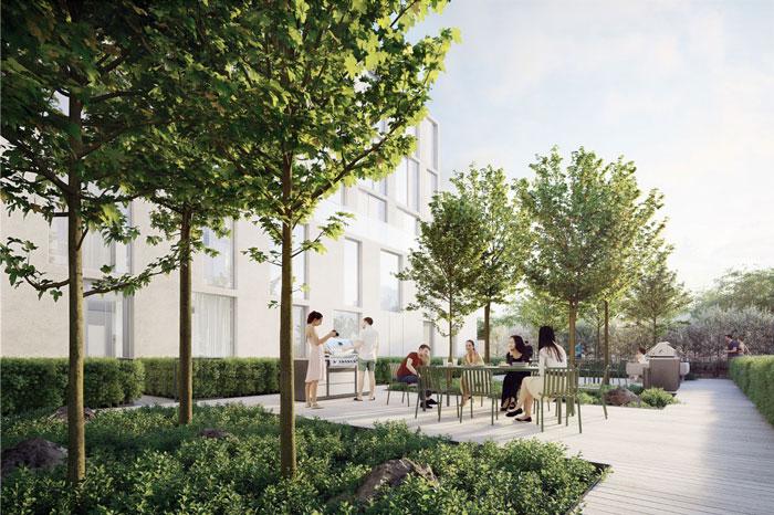 Nordic Condos Courtyard