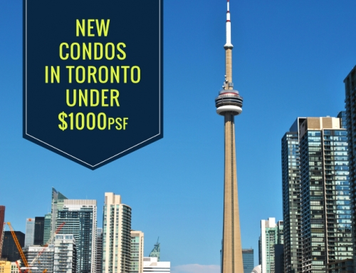 NEW CONDOS IN TORONTO UNDER $1000PSF