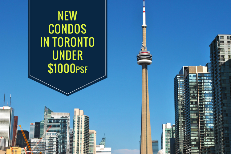 new condos in toronto under $1000psf blog