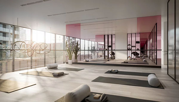 gym of untitled toronto condos at yonge and eglinton