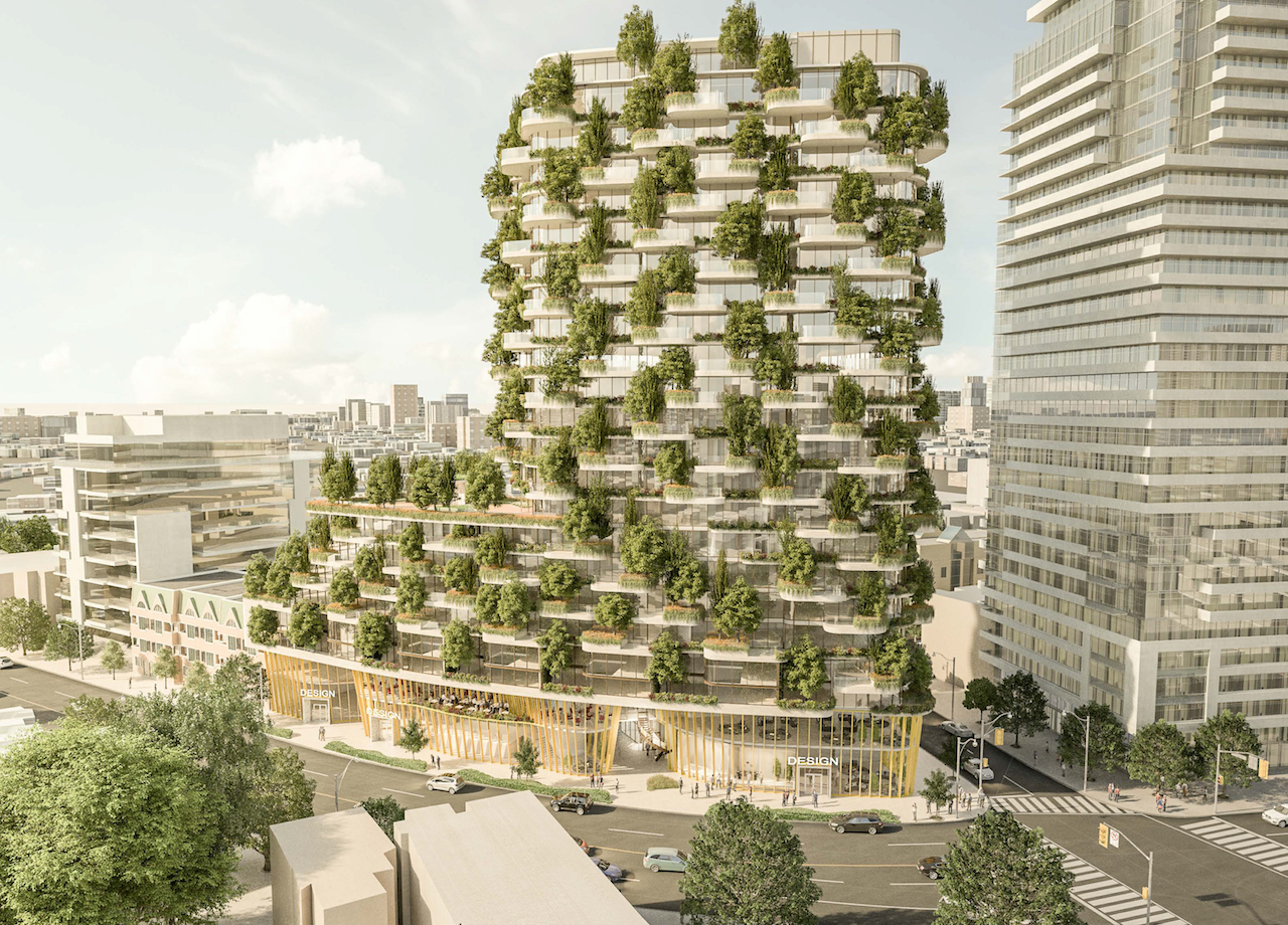 Designers walk condo with vertical forest