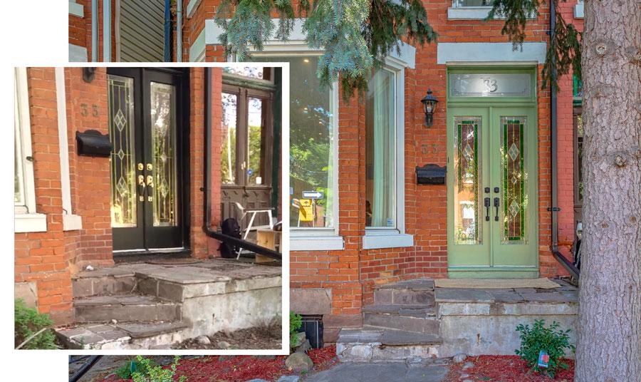 front door staging makeover