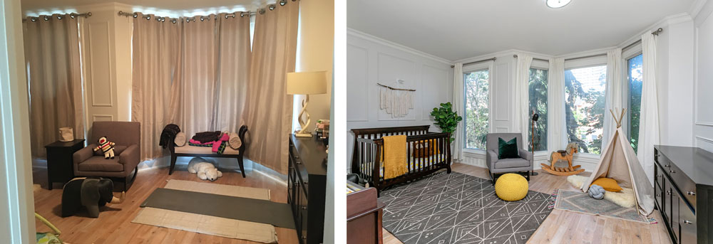 before and after nursery staging