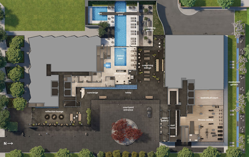 untitled toronto condos amenity plan