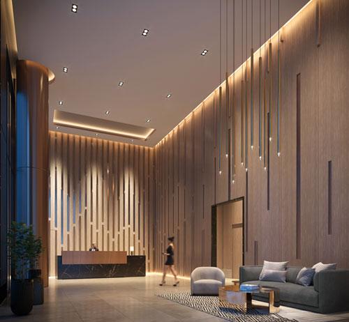No55 Mercer Condos Fendi designed lobby