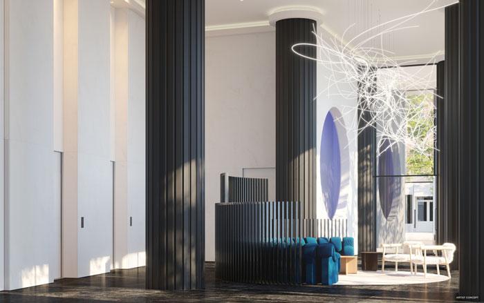 artistry condos lobby