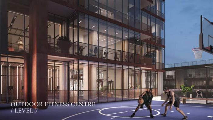 No55 Mercer Condos basketball court
