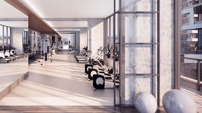 sixty five broadway ave condos fitness centre