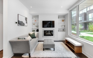 Living Room Home Staging Example in Toronto | Pierre Carapetian Group
