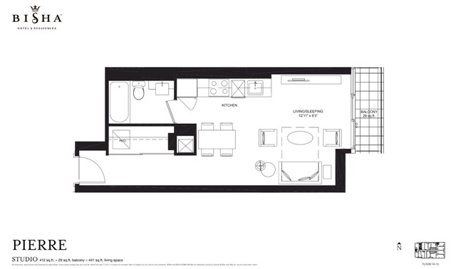 88 Blue Jays Way,Toronto,Canada,1 BathroomBathrooms,Condo,Bisha,Blue Jays Way,1104