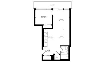 1190 Dundas St., Toronto, Canada, 1 Bedroom Bedrooms, ,1 BathroomBathrooms,Condo,Sold,The Carlaw,Dundas St.,926,1284