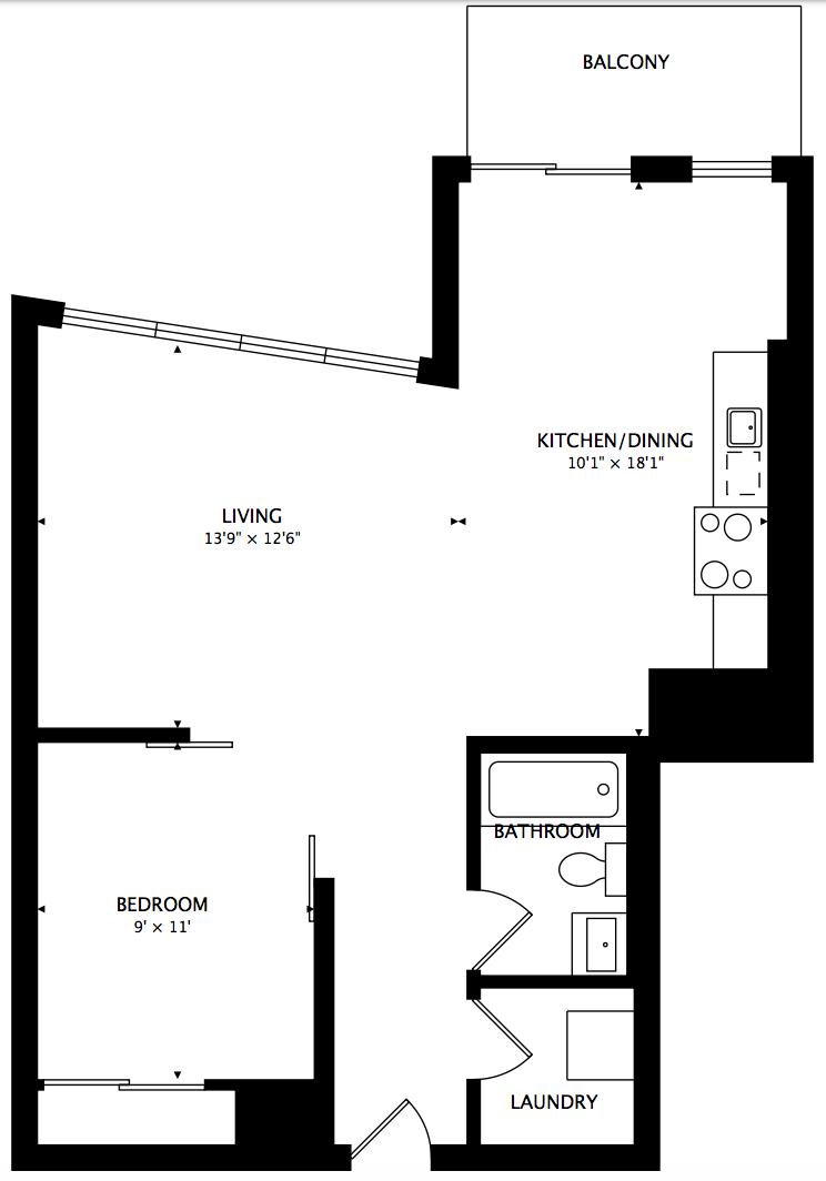 1190 Dundas Street East,Toronto,Canada,1 Bedroom Bedrooms,1 BathroomBathrooms,Condo,Dundas Street East,5,1041